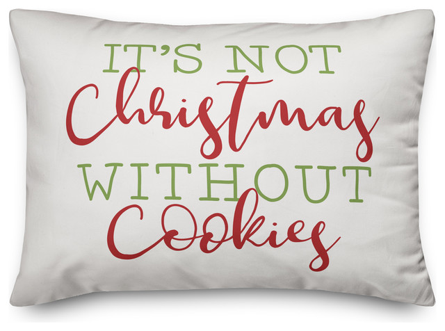 It S Not Christmas Without Cookies Pillow Contemporary Decorative Pillows By Designs Direct