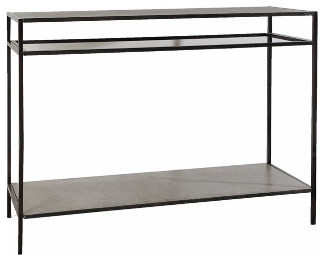 Practically Subtle Console Table In Black.