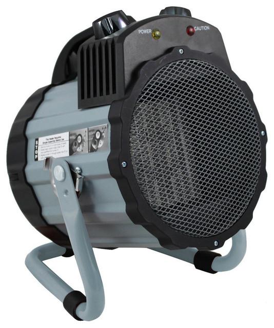 Comfort Zone Cz285 Ceramic Electric Barrel Fan-Forced Utility Heater, Blue.