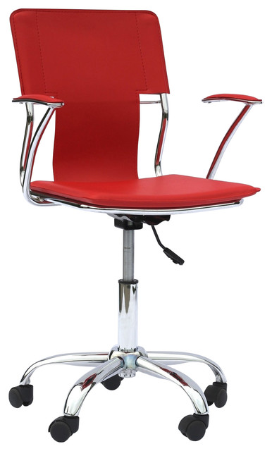 Studio Office Chair, Red.
