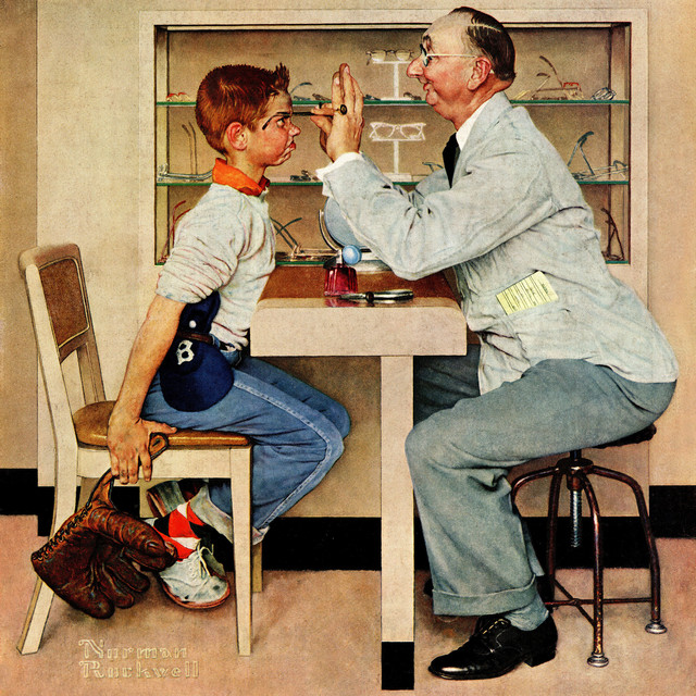 Quot Eye Doctor Quot Painting Print On Canvas By Norman Rockwell