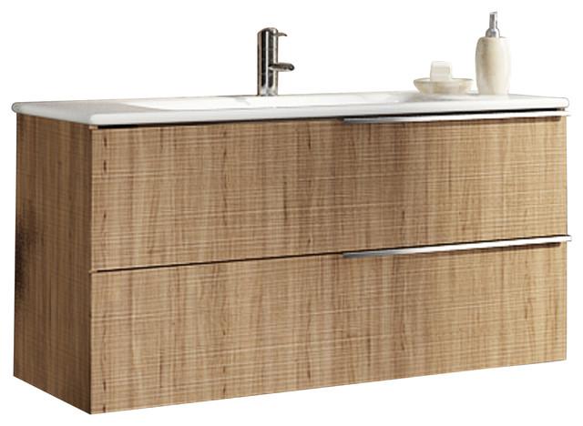 Materia 2 Drawer Vanity With Towel Rail And Ceramic Washbasin, Dark Gray  Contemporary