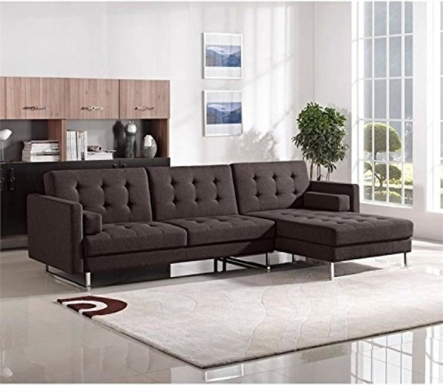 Enjoyable Opus Convertible Tufted Right Facing Chaise Sectional By Diamond Sofa Chocolate Short Links Chair Design For Home Short Linksinfo