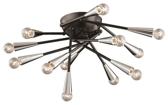 Zazu 12-Light Flushmount, Black