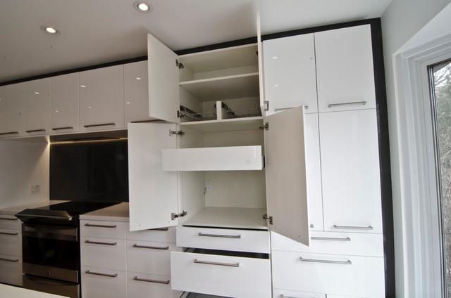 ikea abstrakt white custom modern toronto by ts kitchen projects. Black Bedroom Furniture Sets. Home Design Ideas
