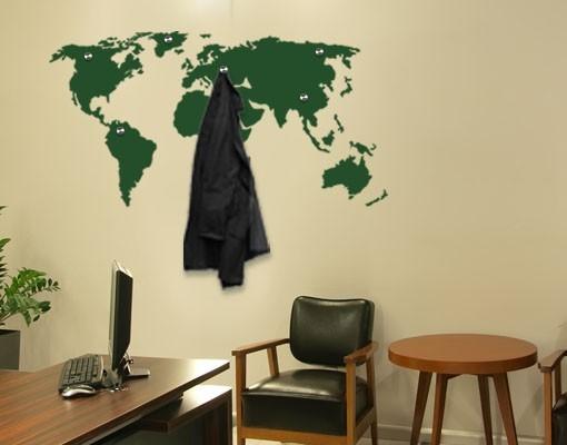 World Map Wall Hangers, Sticker, Mural Vinyl Art Home Decor on map mirror, map skirt, map accessories, map of downtown denver rtd, map bag, map scrapbook, map chair, map hwy 224 clackamas 32nd, map plastic,