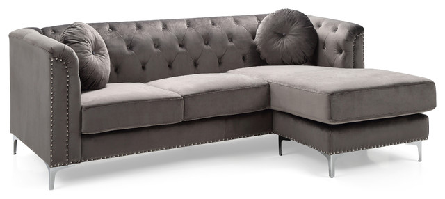 Astonishing Pompano Sofa Sectional Dark Gray Pabps2019 Chair Design Images Pabps2019Com