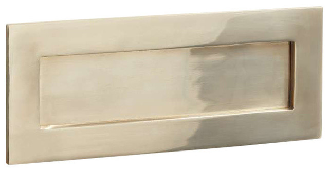 Letter Plate, 255mm, Polished Brass Unlacquered