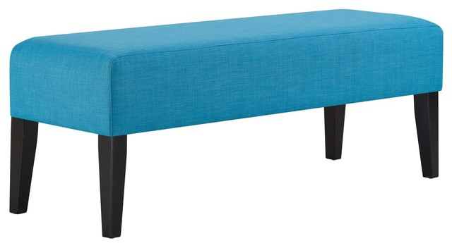 Connect Upholstered Fabric Bench. -1