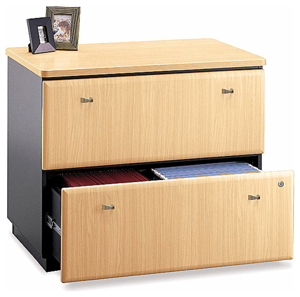 Assembled Lateral Cabinet w Beech Finish - Se - Contemporary - Filing Cabinets - by ShopLadder