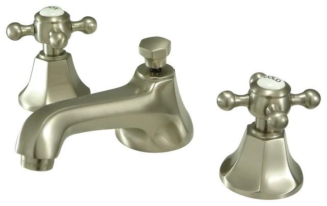 Kingstonbrass Kingston Brass Metropolitan Two Handle Widespread Lavatory Faucet With Brass Pop