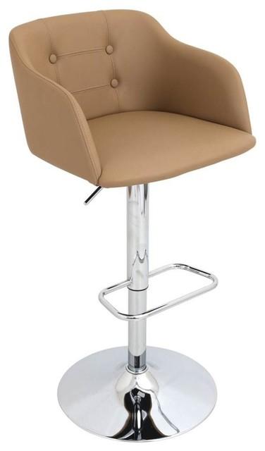 Strange Campania Height Adjustable Barstool With Swivel Color Camel Uwap Interior Chair Design Uwaporg