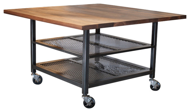 Shop Houzz | Real Industrial Edge Furniture Walnut And Steel
