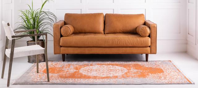 Unique Loom Terracotta Olwen New Classical 5' 0 x 8' 0 Area Rug