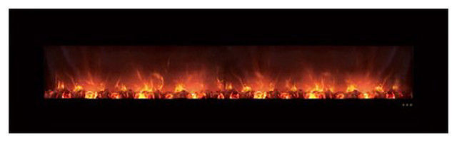 Modern Flames 100 Ambiance Clx Electric Fireplace, With Black Glass Surround.