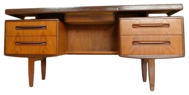 Consigned- Mid Century Teak Desk Floating Top Design by G Plan