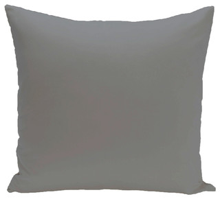 "Solid Color Decorative Outdoor Pillow, Classic Gray, 18""x18"""