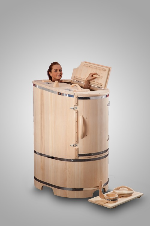cedar spa barrel is an organic herbal aromatic steam sauna for one person made from cedar wood. Black Bedroom Furniture Sets. Home Design Ideas