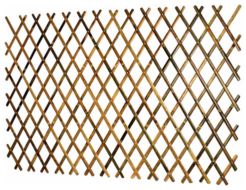 Attractive Expandable Bamboo Trellis With Aluminum Rivets Asian Home Fencing And Gates