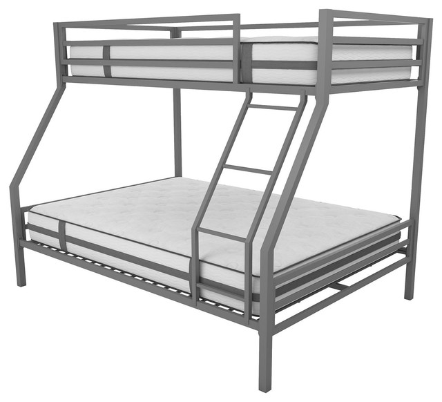 Novogratz Maxwell Twin Over Full Metal Bunk Bed With Ladder Guardrails Contemporary Bunk Beds By Dorel Home Furnishings Inc Houzz