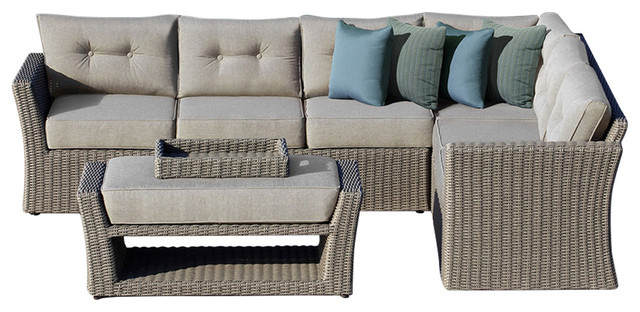Isabella 3-Piece Outdoor Sectional Set.