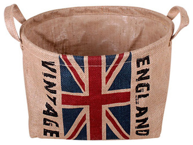 Foldable Laundry Basket Storage Basket Practical Basket Britain Flag.