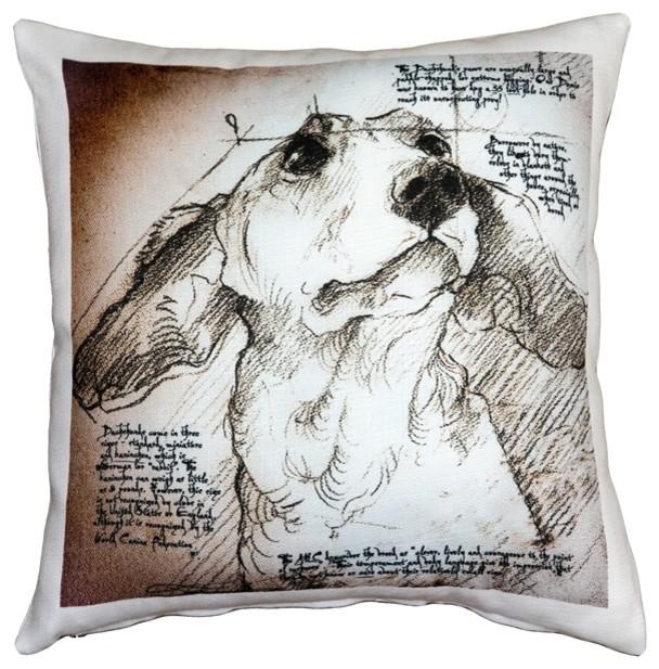 Decorative Dog Throw Pillows : Leonardo s Dogs Dachshund Dog Pillow - Contemporary - Decorative Pillows - by Pillow Decor Ltd.