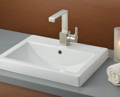 Overmount Vanity Sink: Difficult To Clean Around?