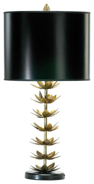 Lotus Leaf Asian Table Lamp.