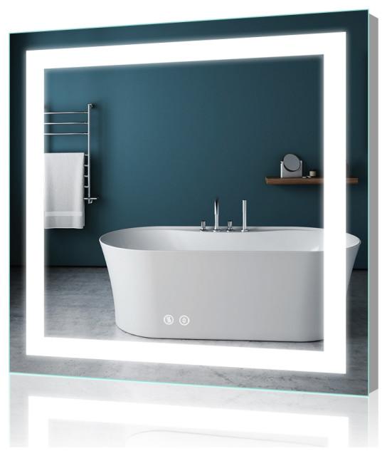 LED Backlit Mirror Lighted Bathroom Mirror With Anti-fog ...
