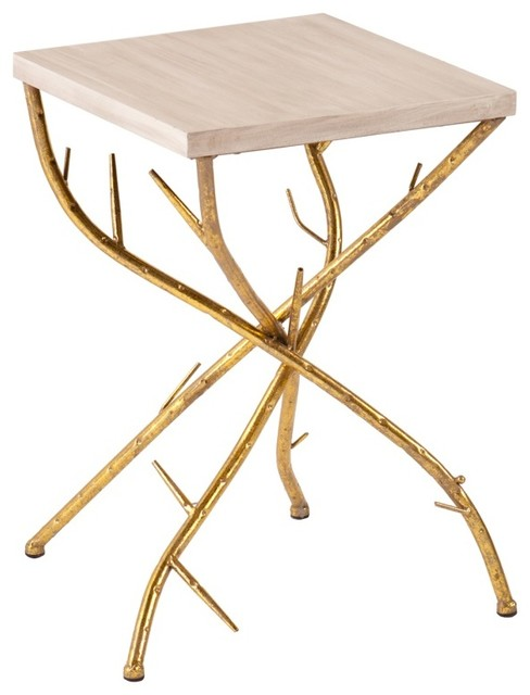 0aabb28f134b Nymeria Branch Accent Table - Rustic - Side Tables And End Tables - by  VirVentures