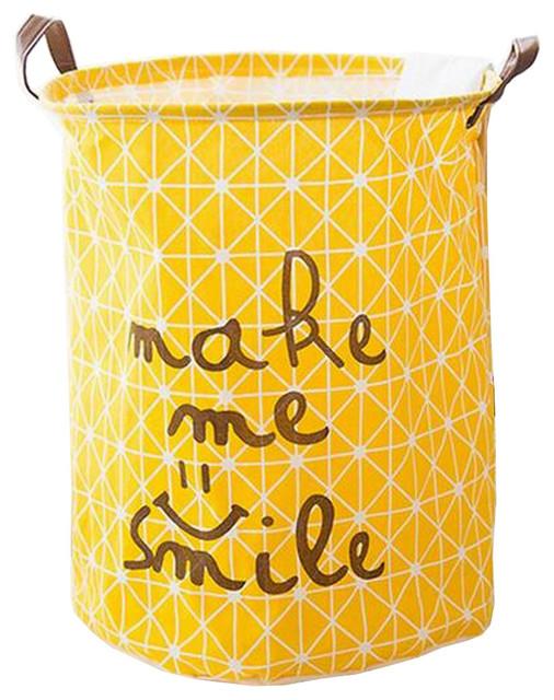 Smile Foldable Cloth Laundry Basket Laundry Hamper Toy Storage Basket.