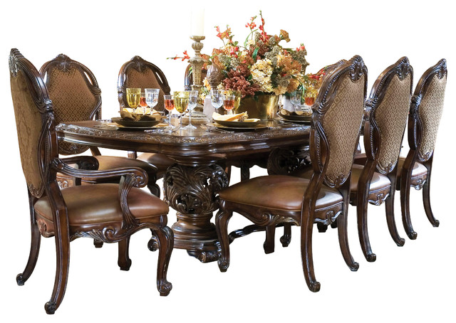 ... Rectangular Dining Table Set With China Cabinet victorian-dining-sets