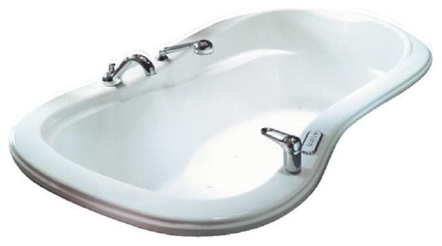 """60""""x33"""" Penelope Drop-In Hourglass Acrylic Bathtub."""