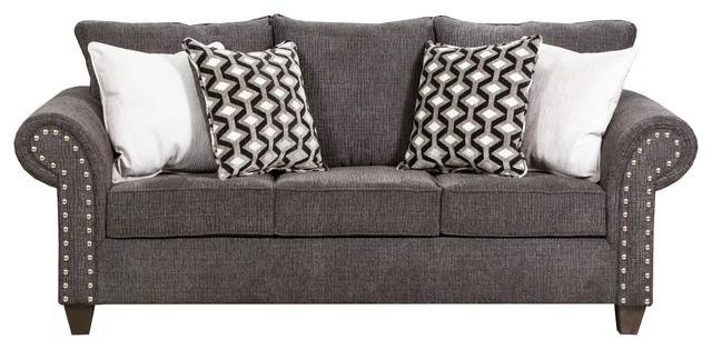 Reed Charcoal Full Sleeper Sofa.