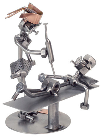 Nurse Nuts And Bolts Metal Sculpture Industrial