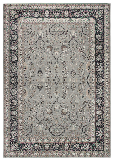 "Rizzy Home Zenith 5'3""x7'6"" Area Rug Gray/Black, Beige, Taupe, Ivory, Green"