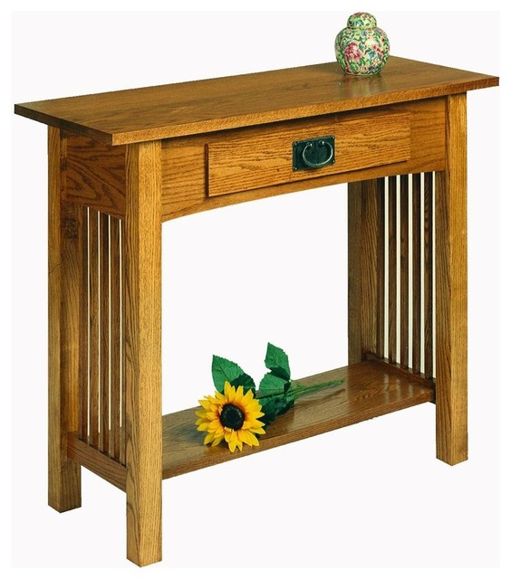 Workbench Clics Sofa Table W Drawer Golden Oak
