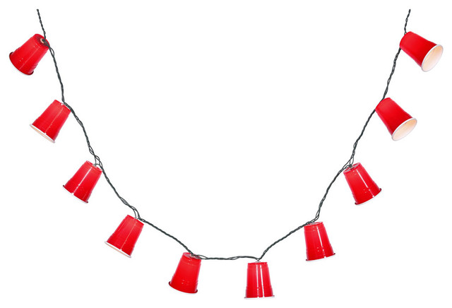 Details about  /Red Party Cup Stringlights Set of 10-8.5/' length indoor outdoor NEW