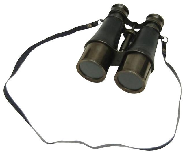 Captain's Antique Solid Brass Binoculars 6''