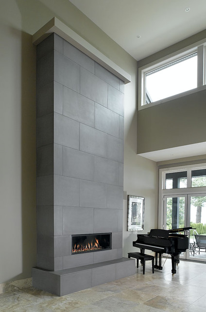 Concrete Fireplace Tiles - Contemporary - Vancouver - by Solus ...