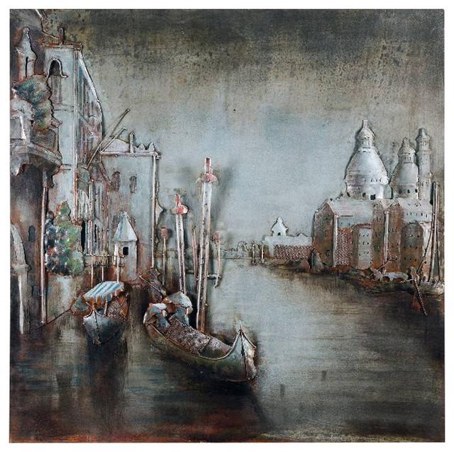 Venice Metal Wall Art, 100x100 cm