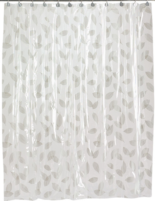 white and silver shower curtain.  Autumn Leaves Vinyl Shower Curtain in Silver shower curtains Curtains by