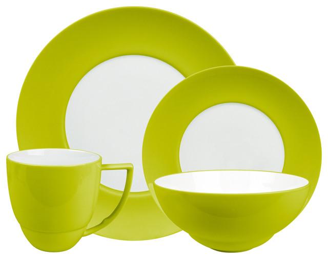 uno 16 piece place setting set mint - Modern Dinnerware