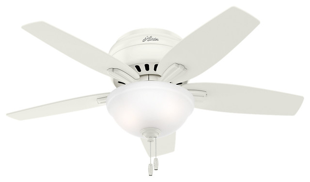 Newsome Low Profile 42 Ceiling Fan With Light Fresh White