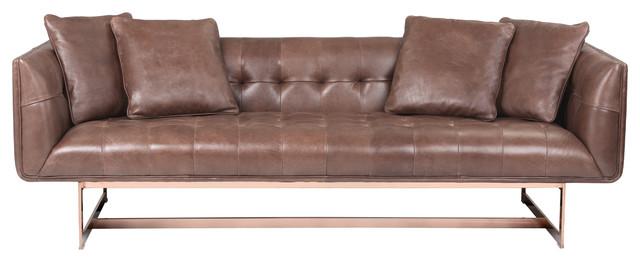 Matisse Sofa In Rose Gold Metal With 4