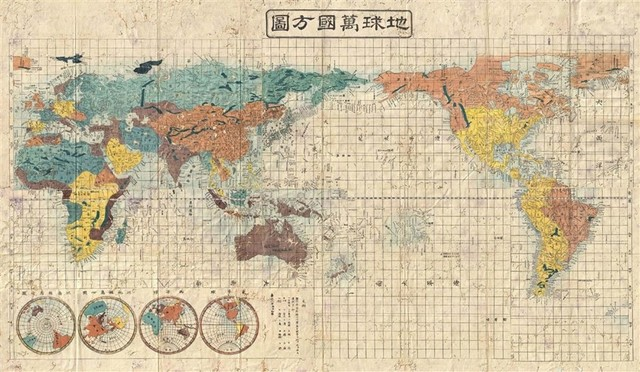Asian World Map Mural Asian Wall Decals By Walls Republic