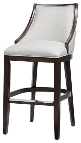 Madison Park Rory Wood Bar Stool, Cream Brown