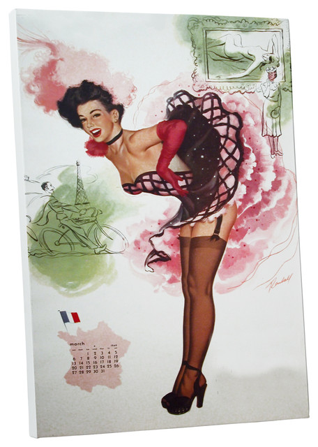 """Vintage Apple """"march In Paris"""" Gallery Wrapped Canvas Wall Art."""