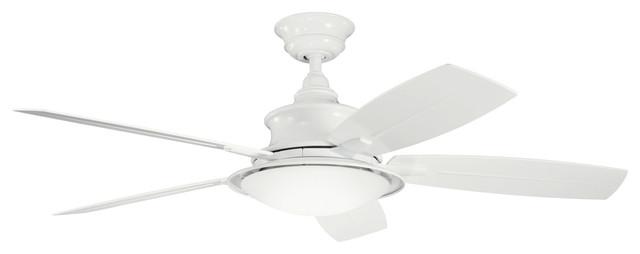 Kichler Lighting 310104wh Cameron White 52 Ceiling Fan.